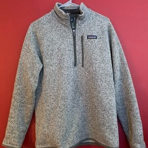 Patagonia fleece half-zip.